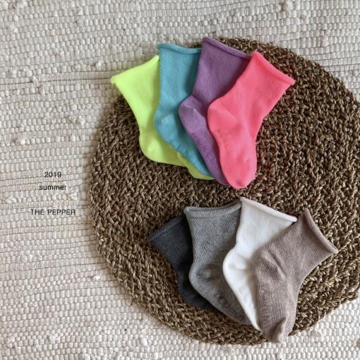 THE PEPPER - BRAND - Korean Children Fashion - #Kfashion4kids - Mesh Socks [set of 4]
