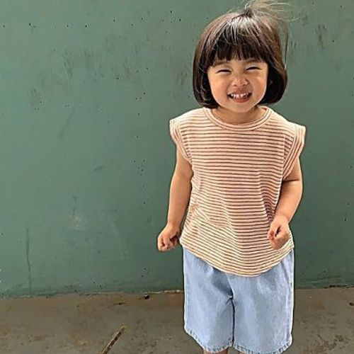 UNIUNI - BRAND - Korean Children Fashion - #Kfashion4kids - Linen Sleeveless Top