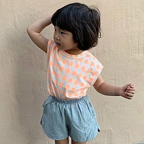 UNIUNI - BRAND - Korean Children Fashion - #Kfashion4kids - Square Sleeveless Top