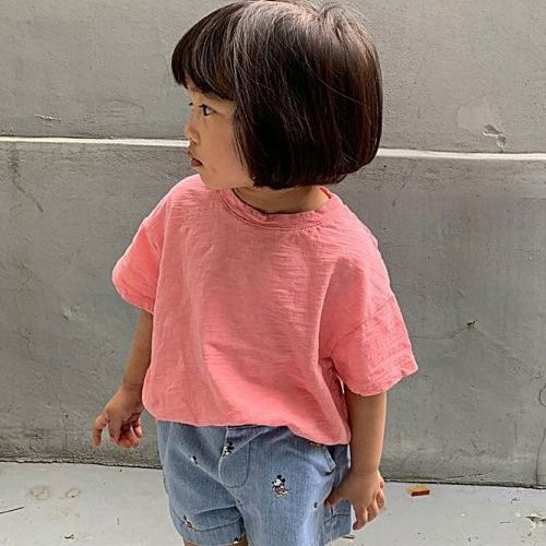 UNIUNI - BRAND - Korean Children Fashion - #Kfashion4kids - Slub Tee