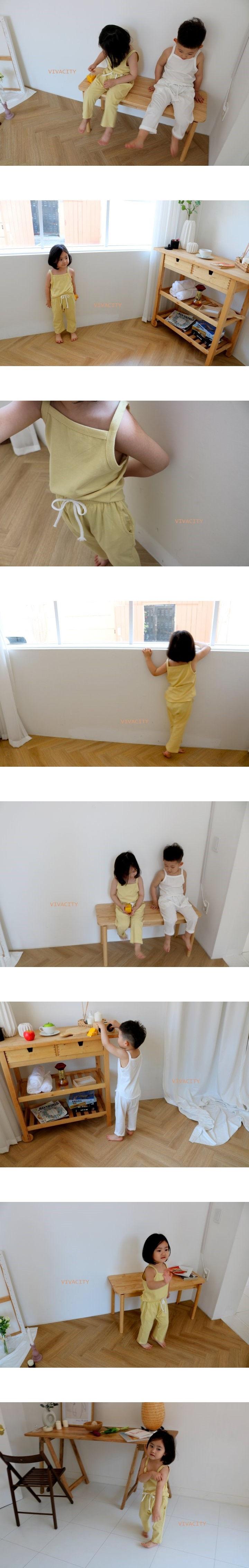 VIVACITY - Korean Children Fashion - #Kfashion4kids - Daily Top Bottom Set