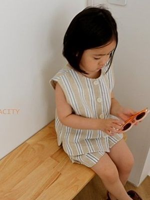 VIVACITY - BRAND - Korean Children Fashion - #Kfashion4kids - London Top Bottom Set