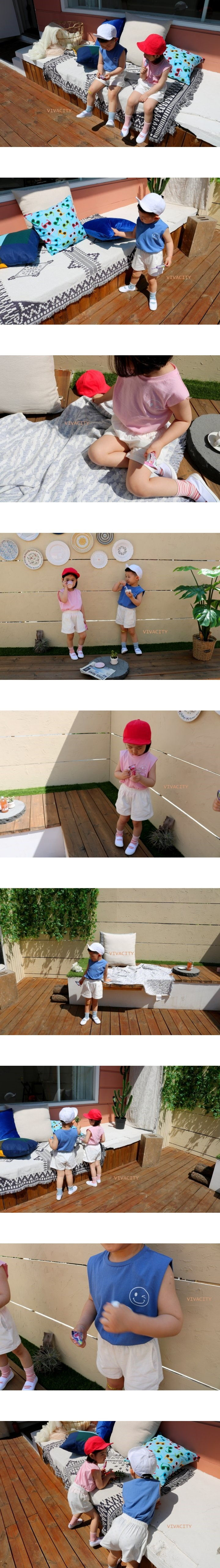 VIVACITY - Korean Children Fashion - #Kfashion4kids - Smile Top Bottom Set