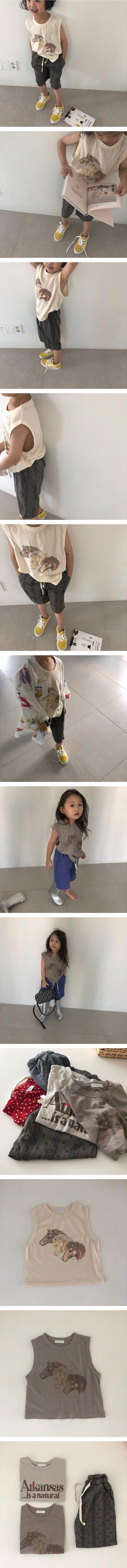 VIVIENNE LEE - Korean Children Fashion - #Kfashion4kids - Horse Tee