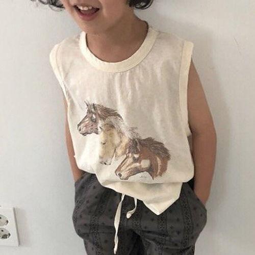VIVIENNE LEE - BRAND - Korean Children Fashion - #Kfashion4kids - Horse Tee