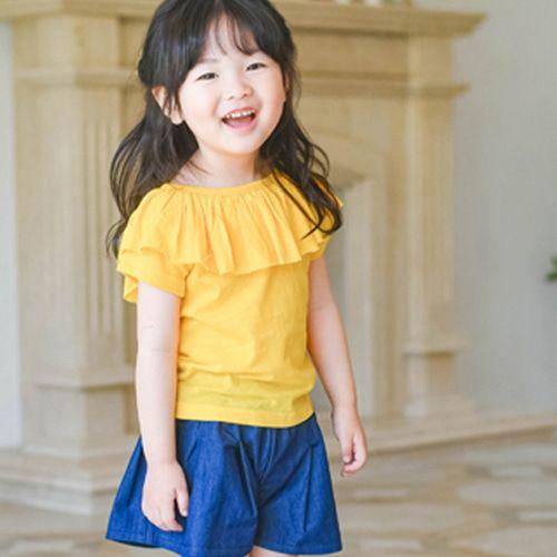 WANDOOKONG - BRAND - Korean Children Fashion - #Kfashion4kids - Naro Frill Tee