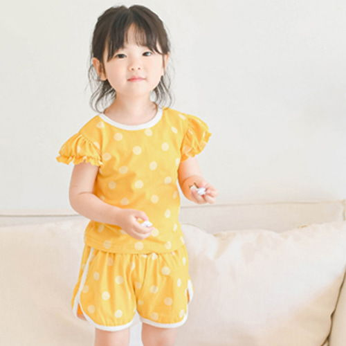 WANDOOKONG - BRAND - Korean Children Fashion - #Kfashion4kids - Monchu Dot Top Bottom Set