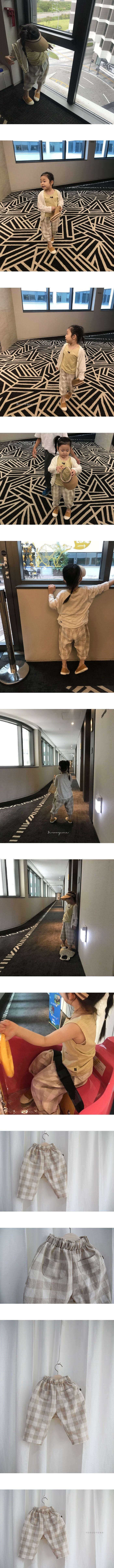 YEROOYENA - Korean Children Fashion - #Kfashion4kids - Check Loose Pants