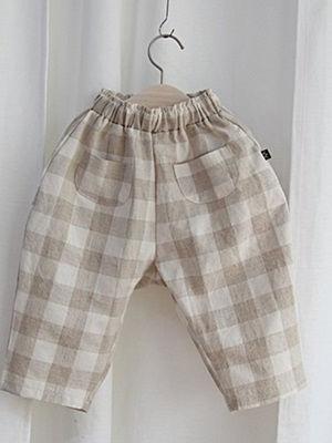 YEROOYENA - BRAND - Korean Children Fashion - #Kfashion4kids - Check Loose Pants