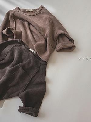 ANGGO - BRAND - Korean Children Fashion - #Kfashion4kids - Pecan Tee