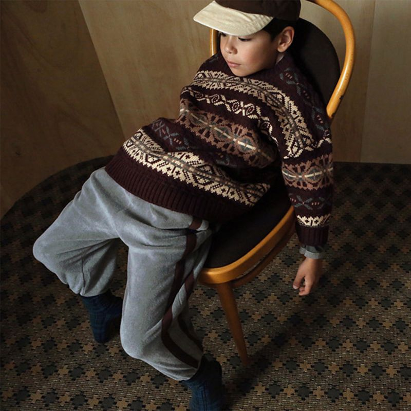 BIEN A BIEN - BRAND - Korean Children Fashion - #Kfashion4kids - Shape Jacquard Knit Pullover