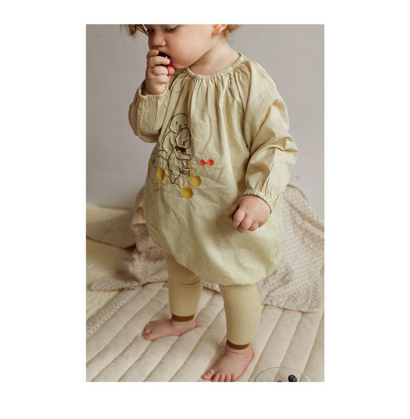 BIEN A BIEN - Korean Children Fashion - #Kfashion4kids - Baby Embroidery Bodysuit