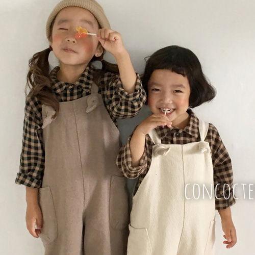CONCOCTER - BRAND - Korean Children Fashion - #Kfashion4kids - Browny Check Shirt
