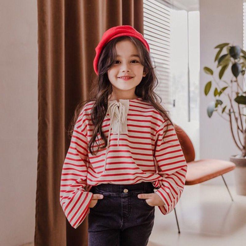 DORE DORE - BRAND - Korean Children Fashion - #Kfashion4kids - Stripe String Tee