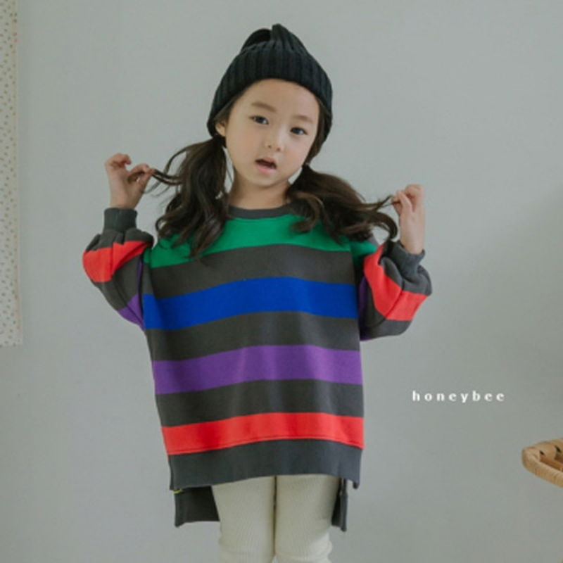 HONEYBEE - BRAND - Korean Children Fashion - #Kfashion4kids - Unbalance Rainbow Tee