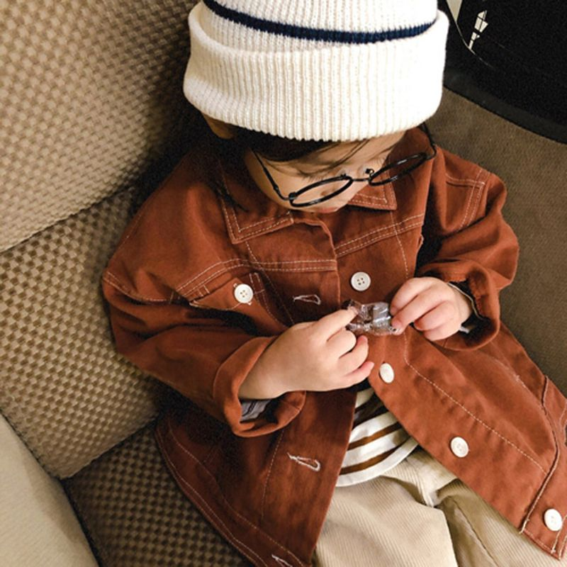 LITTLE COLLI - BRAND - Korean Children Fashion - #Kfashion4kids - Retro Jacket
