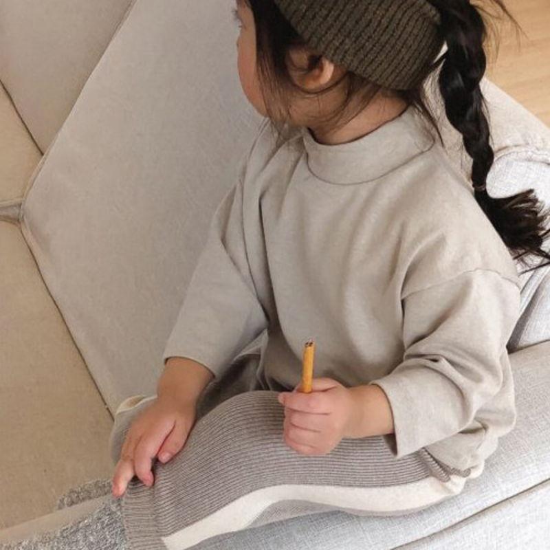 LITTLE COLLI - BRAND - Korean Children Fashion - #Kfashion4kids - Turtleneck Tee