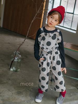 MICCA - BRAND - Korean Children Fashion - #Kfashion4kids - Heart Dot Overall