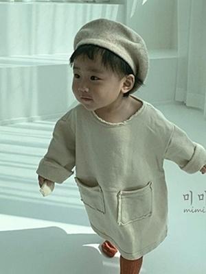 MIMI MARKET - BRAND - Korean Children Fashion - #Kfashion4kids - Pocket One-piece