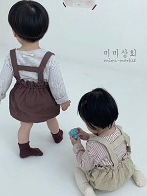 MIMI MARKET - BRAND - Korean Children Fashion - #Kfashion4kids - Pumpkin Suspender Bloomer