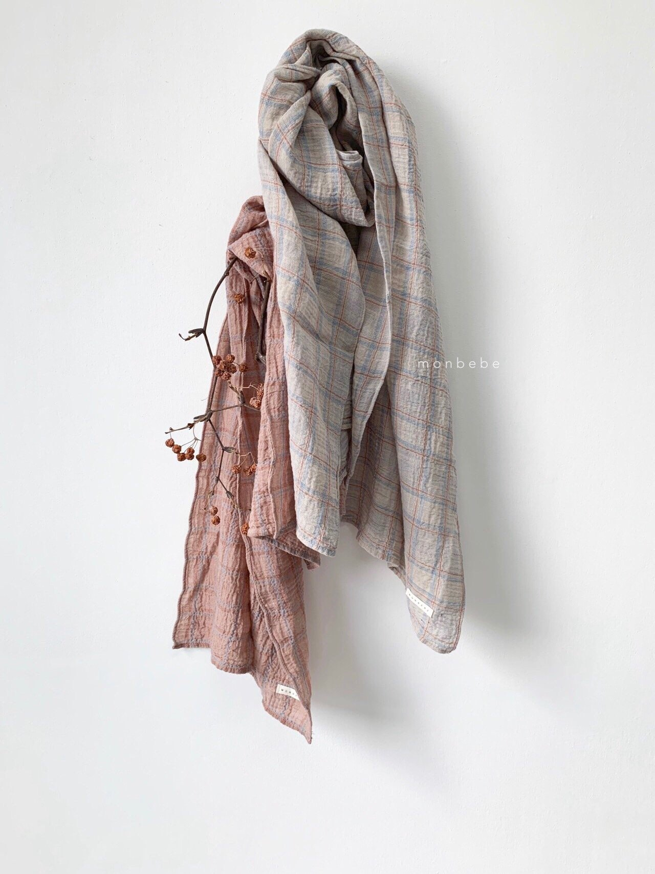 MONBEBE - Korean Children Fashion - #Kfashion4kids - Check Scarf