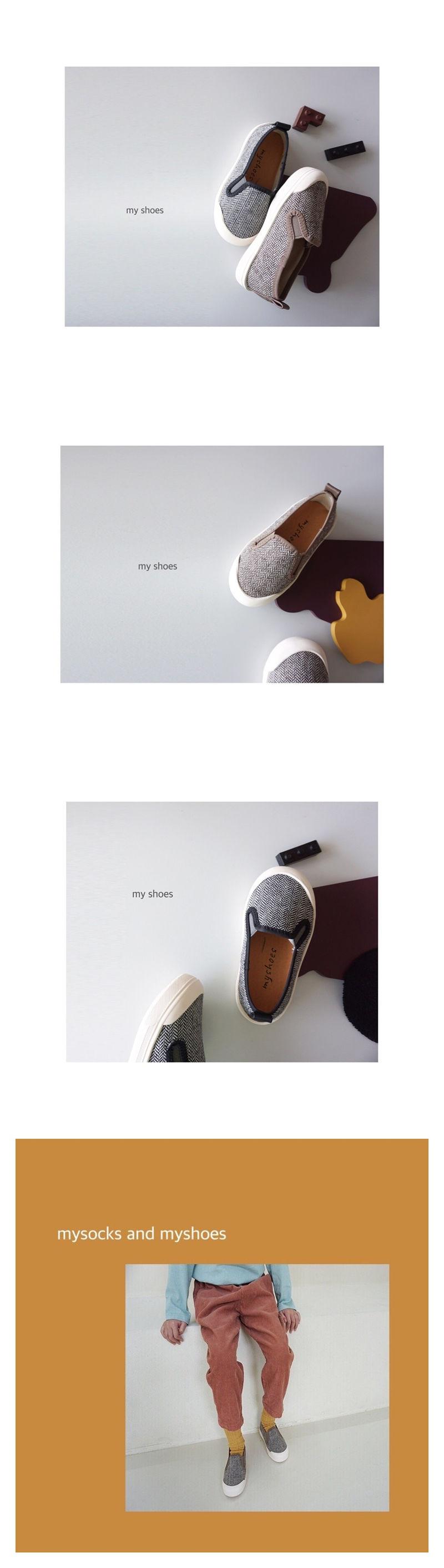 MY SOCKS - Korean Children Fashion - #Kfashion4kids - Nut Slip-on