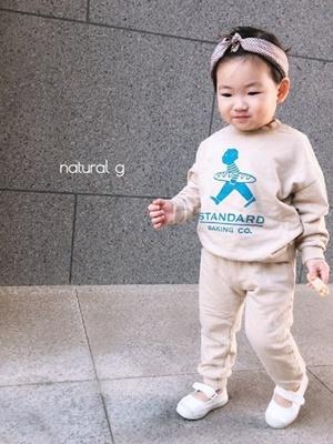 NATURAL G - BRAND - Korean Children Fashion - #Kfashion4kids - Standard Top Bottom Set