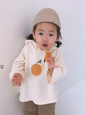 NATURAL G - BRAND - Korean Children Fashion - #Kfashion4kids - Peach Hood Tee