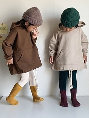 PAUL & J - BRAND - Korean Children Fashion - #Kfashion4kids - String Hood Top