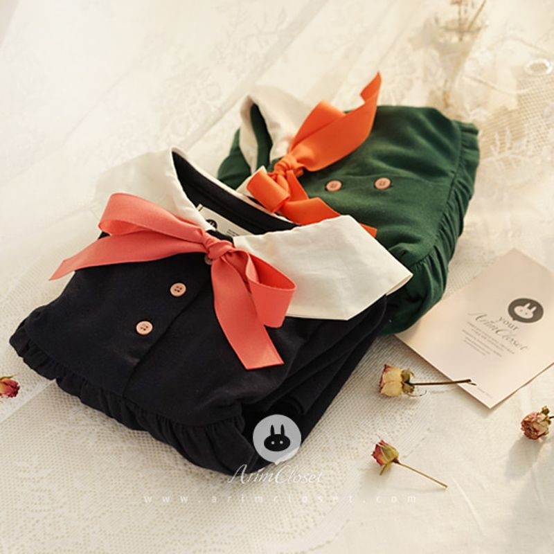ARIM CLOSET - BRAND - Korean Children Fashion - #Kfashion4kids - Cute Sailor Navy Green Dress