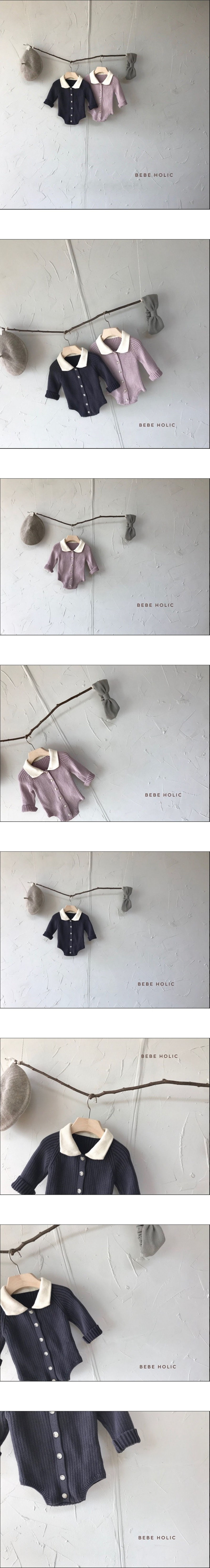 BEBE HOLIC - Korean Children Fashion - #Kfashion4kids - Collar Knit Bodysuit