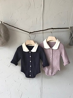 BEBE HOLIC - BRAND - Korean Children Fashion - #Kfashion4kids - Collar Knit Bodysuit