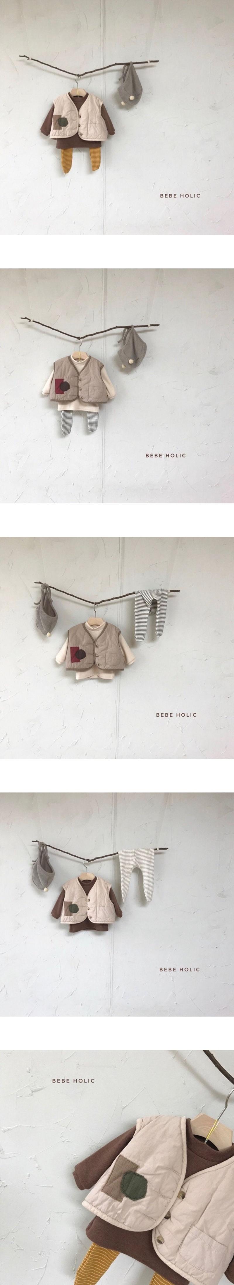BEBE HOLIC - Korean Children Fashion - #Kfashion4kids - Patch Padding Vest