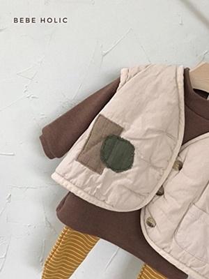 BEBE HOLIC - BRAND - Korean Children Fashion - #Kfashion4kids - Patch Padding Vest