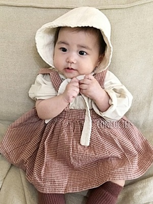 CONCOCTER - BRAND - Korean Children Fashion - #Kfashion4kids - Bebe Check Skirt