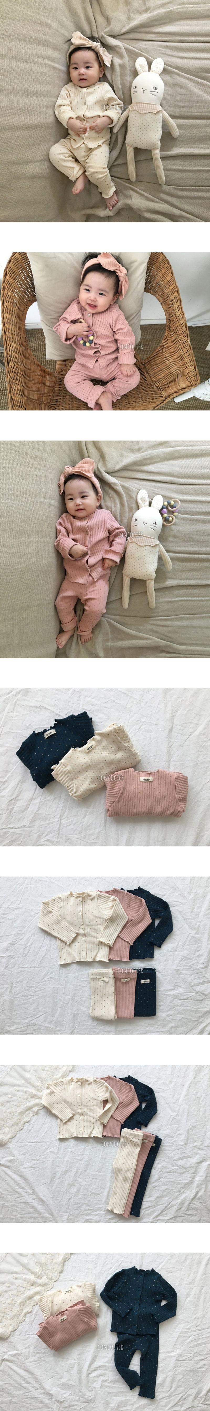 CONCOCTER - Korean Children Fashion - #Kfashion4kids - Bebe Gold Dot Easywear