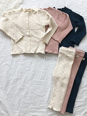 CONCOCTER - BRAND - Korean Children Fashion - #Kfashion4kids - Bebe Gold Dot Easywear