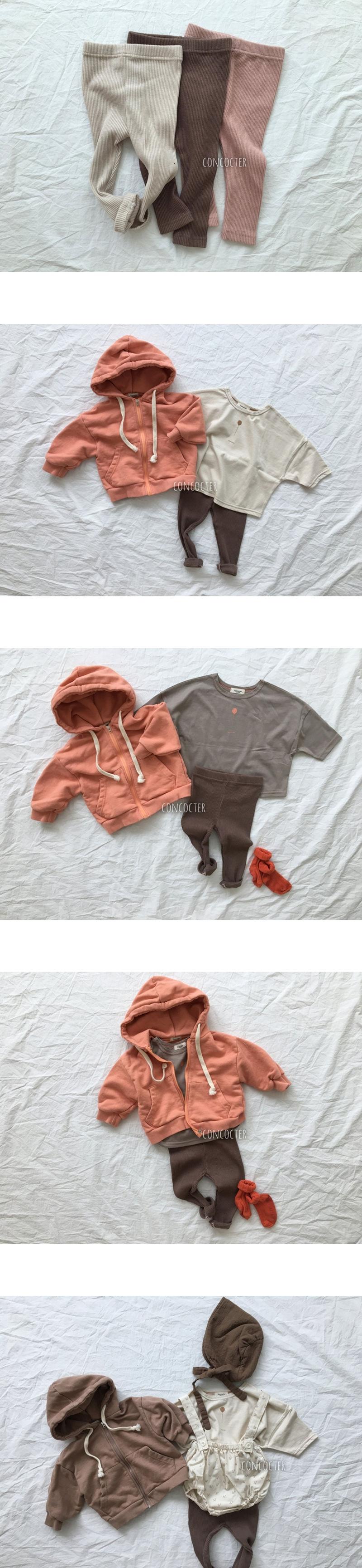 CONCOCTER - Korean Children Fashion - #Kfashion4kids - Bebe Rib Basic Leggings