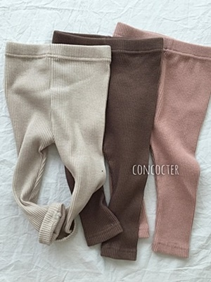 CONCOCTER - BRAND - Korean Children Fashion - #Kfashion4kids - Bebe Rib Basic Leggings