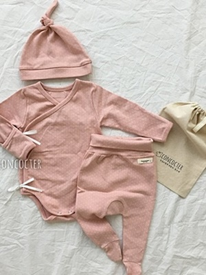 CONCOCTER - BRAND - Korean Children Fashion - #Kfashion4kids - Camembert Suit Leggings Bonnet Set