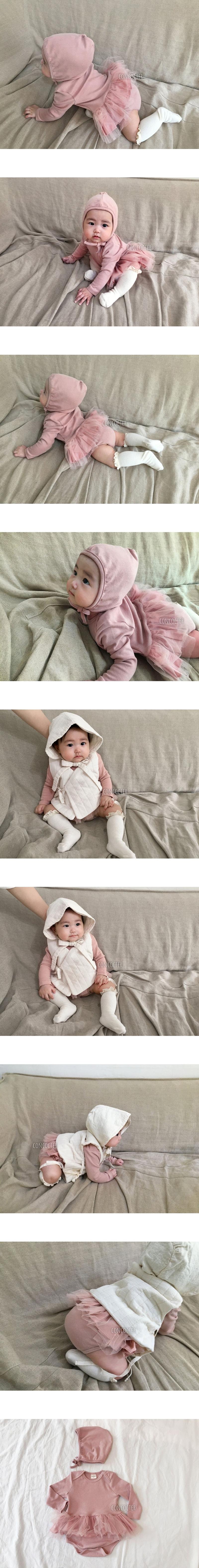 CONCOCTER - Korean Children Fashion - #Kfashion4kids - Frill Bodysuit