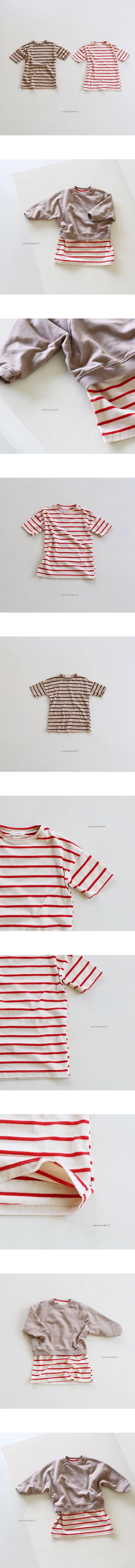 COTTON MILL - Korean Children Fashion - #Kfashion4kids - Stripe Midi One-piece