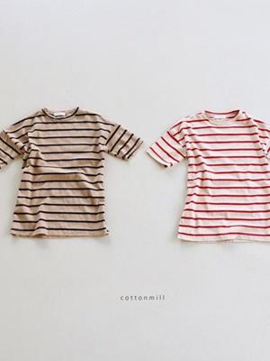 COTTON MILL - BRAND - Korean Children Fashion - #Kfashion4kids - Stripe Midi One-piece
