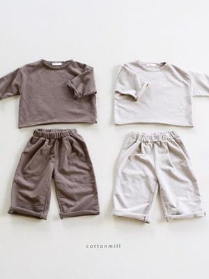 COTTON MILL - BRAND - Korean Children Fashion - #Kfashion4kids - Dekki Top Bottom Set