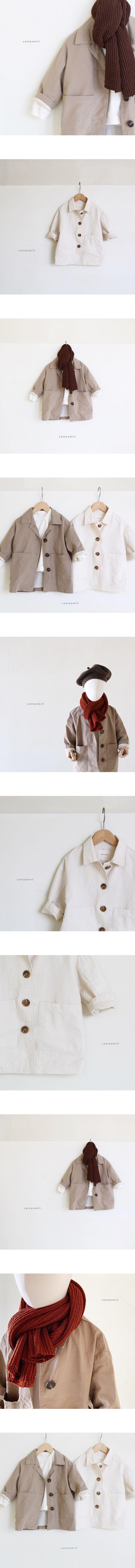 COTTON MILL - Korean Children Fashion - #Kfashion4kids - Modern Long Coat
