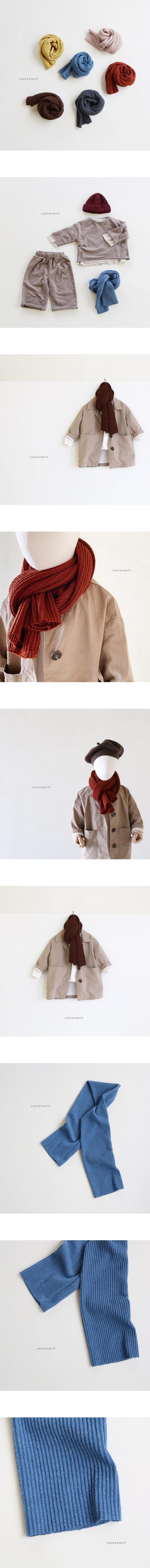 COTTON MILL - Korean Children Fashion - #Kfashion4kids - Rib Muffler