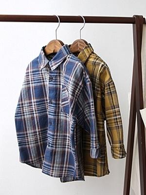 CREAMCOK - BRAND - Korean Children Fashion - #Kfashion4kids - Autumn Check Shirt