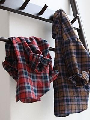 CREAMCOK - BRAND - Korean Children Fashion - #Kfashion4kids - Together Check Shirt