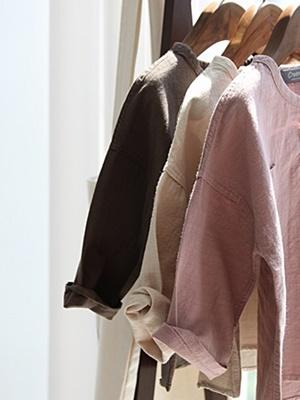 CREAMCOK - BRAND - Korean Children Fashion - #Kfashion4kids - Henry Neck Shirt