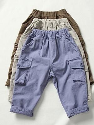 CREAMCOK - BRAND - Korean Children Fashion - #Kfashion4kids - Vanilla Cargo Pants